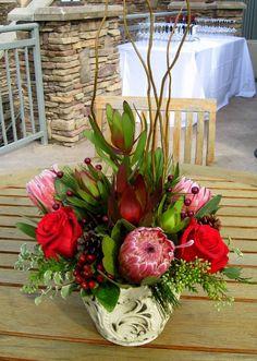 Rustic Christmas centerpiece escondido florist posy peddler