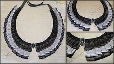 Как сделать красивый воротник из лент/how to make a beautiful collar