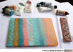 Project by Anneke De Clerck. Journal Covers, Art Journal Pages, Simple Borders, Printed Pages, Some Cards, Stamps, Abstract, Creative, Prints