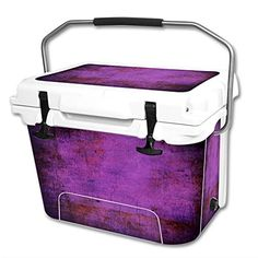 MightySkins Protective Vinyl Skin Decal Wrap for RTIC 20 qt Cooler cover sticker Purple Sky * Click image for more details.