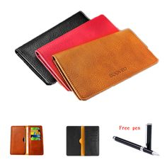 """New Arrival PU Leather Wallet Pouch Cover For Infocus M560 MTK6753 5.2"""" Case Fashion Universal 5.5 inch Mobile Phone Bags+Pen"""