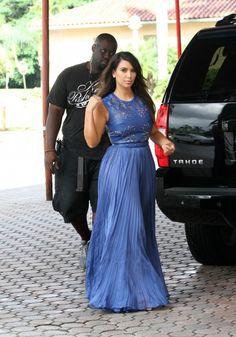 Kim Kardashian in Catherine Dean Gown at Biltmore Hotel in Miami