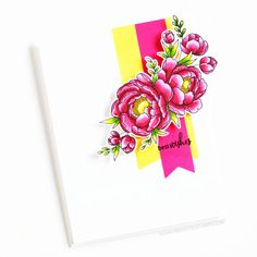 Stamps: Pick A Peony, Fancy That / Stencils: Flagged Dwon Love Your Smile, My Love, Clear Stamps, Peonies, Stencils, Fancy, Drawings, Blog, Cards