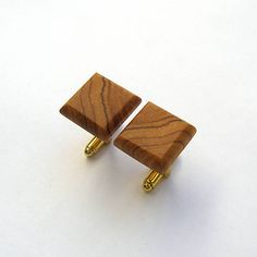 wlkr / Drevené manžetové gombíky / Drevené manžetové gombíky - olivovníkové štvoruholníky Cufflinks, Accessories, Wedding Cufflinks, Jewelry Accessories