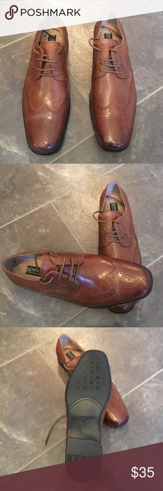 Stacy Adams Men's Wingtip Shoes NWOT Stacy Adams Men's Wingtip Shoes - Cognac - NWOT - Never Worn - Great shoe for both dress and casual. Stacy Adams Shoes