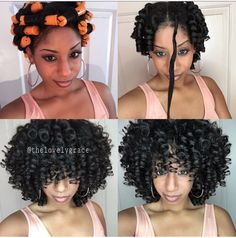 Perm Rods on Natural Hair                                                                                                                                                                                 More