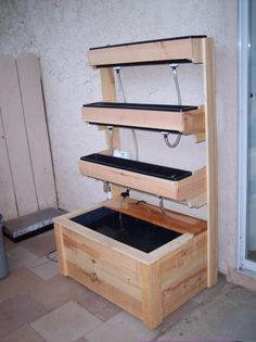 This home built set up takes up about as much space as your average refrigerator. It's simplistic set up suggests is easy to build.