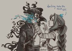 """Darling...take off the mask..."" Vex and Percy <3 