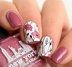 55 Stunning Nail Art & Designs 2016 As the new year has begin, So you probably looking for some new nail art inspiration. We bring you the most top rated nail designs from all over the web. Nail Art Designs 2016, Flower Nail Designs, Pretty Nail Designs, Nail Designs Spring, Nail Art Galleries, French Nails, Fun Nails, Pretty Nails, Nice Nails