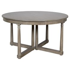 declan rustic grey brown extendable round dining table