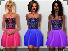 Sims  Addictions: Sims 4 Paloma Dress