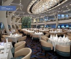 Celebrity Eclipse Moonlight Sonata Dining Room #Travel #Cruise #Eclipse I love this dining room!