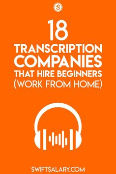 If you'd like to get paid to type, transcribing audio is one of the best ways to do so. Start out and get some useful experience by applying for a job at one of these 18 transcription companies that hire beginners. Home Based Work, Work From Home Jobs, Make Money From Home, Way To Make Money, Transcription Jobs From Home, Transcription Jobs For Beginners, Earn More Money, Earn Money Online, Online Income