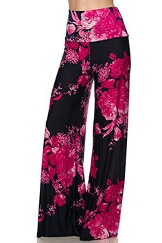 High Waist Fold Over Wide Leg Gaucho Palazzo Pants (Dark Navy Blossoms) - Niobe Clothing - 1 Next Fashion, Dope Fashion, Fashion 2018, Fashion Outfits, Leggings Are Not Pants, Comfy Pants, Hot Pants, Wide Leg Palazzo Pants, Dressed To The Nines