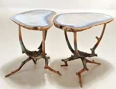 Yep...a rare hand sculpted bronze & agate cocktail table would be lovely.