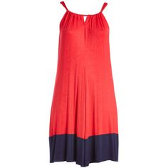 GLAM Red & Navy Colorblock Sleeveless Dress ($28) ❤ liked on Polyvore featuring plus size women's fashion, plus size clothing, plus size dresses, plus size, long navy dress, color block dress, navy dress and plus size navy blue dress