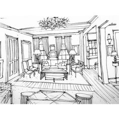 Concept sketch for one side / seating area of our living room. #conceptsketch #conceptdrawing #conceptimage #conceptperspective #perspectivedrawing #perspectivesketch #perspectiverendering #rendering #handrendering #handsketch #handdrawing #drawing #sketch #perspective #conceptrendering #design #designdrawing #designsketch #interiorrendering #interiorsketch #decor #decorating #philipmitchelldesign @philipmitchelldesign #marknarsansky @marknarsansky #livingroom #livingroomsketch…