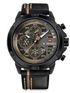 996d29bcd6f Buy NAVIFORCE Men s Wrist Watch Water Proof Brief Design Calendar Display  Watch Accessory  amp  Men s
