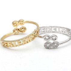 infinity best friend ring, adjustable