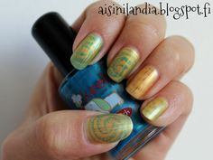 Stamping with water based nail polish & DRK-A