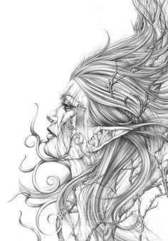 https://www.etsy.com/ca/shop/Lunarianart?page=1 Earth Soul Dryad Art Print Tree Woman Earth Art by Lunarianart, £4.99