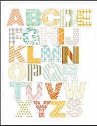 Abecedario para imprimir | Descargas Gratis para Imprimir: Papiroflexia, Tarjetas de Cumpleaños, Manualidades, adornos Navidad, Deco. Imprimibles gratis de papel .Freebies.
