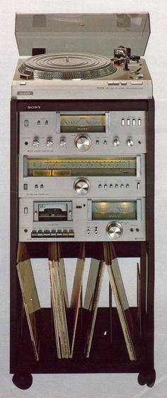 Sony 1978 Vintage Audio Love Radios, Hi Fi System, Audio System, Hifi Audio, Stereo Speakers, Playstation 2, Audio Rack, Retro, Record Players