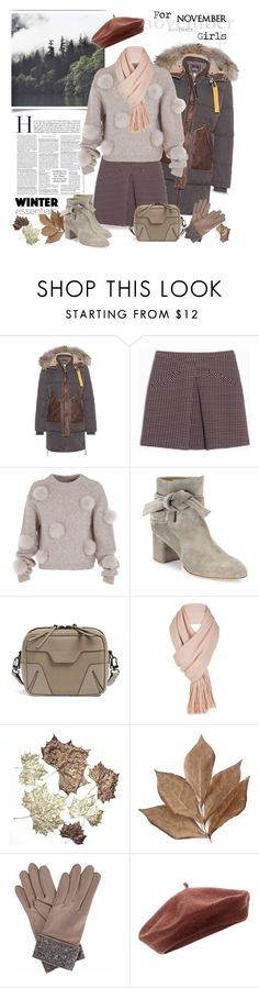 """""""For November Girls"""" by ellie366 ❤ liked on Polyvore featuring Parajumpers, Max&Co., TIBI, rag & bone, Free People, Bliss Studio, Gizelle Renee, Accessorize, fallsweaters and berets"""