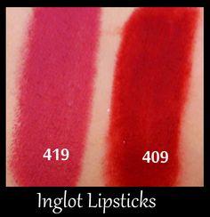Inglot Lipstick swatches