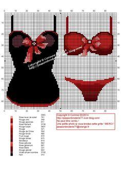 Sous vêtements Cross Stitch Boards, Cross Stitch Needles, Cross Stitch Designs, Cross Stitch Patterns, Cross Stitching, Cross Stitch Embroidery, Petite Lingerie, Lingerie Sets, Bra Lingerie