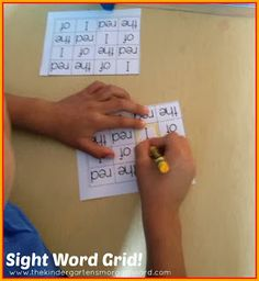 A Kindergarten Smorgasboard Sight Word Routine: students get approximately 60 exposures to each sight word throughout the week! Teaching Sight Words, Phonics Words, Sight Word Practice, Sight Word Games, Sight Word Activities, Classroom Activities, Classroom Ideas, Kindergarten Smorgasboard, Kindergarten Reading