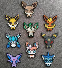 Perler Bead Pokemon Patterns, Hama Beads Pokemon, Melty Bead Patterns, Perler Bead Templates, Diy Perler Beads, Hama Beads Patterns, Perler Bead Art, Pixel Beads, Fuse Beads