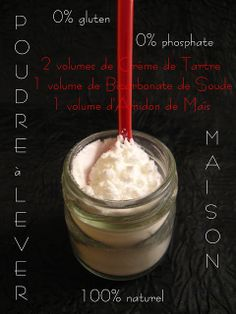 Poudre à lever Maison sans phosphate ni gluten/ Homemade baking powder without phosphate nor gluten