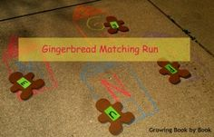 Gingerbread Matching Run- match lowercase and uppercase letters from Growing Book by Book
