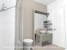Banheiro moderno e diferenciado. http://dicasdearquitetura.com.br/ideias-para-lavabos-e-banheiros/