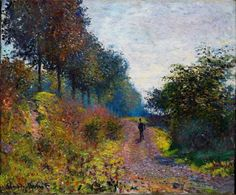 "goodreadss: ""Claude Monet, The Sheltered Path 1873 """