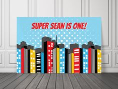 Superhero Vinyl Banner / Superhero by UnlimitedPartyThemes on Etsy, $36.50