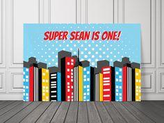 Superhero Vinyl Banner / Superhero by UnlimitedPartyThemes on Etsy, $36.50