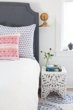 Inlet Beach U2014 Crowell + Co Interiors Gorgeous Bedroom Featuring Dark  Headboard And A Bohemian Vibe