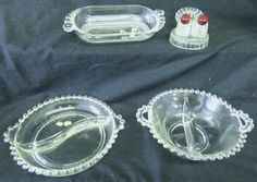 14 Piece Vintage Crystal Glass Dinnerware by RoomtoSpareStorage
