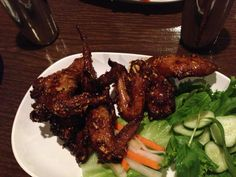 Pok Pok chicken wings. This is a must try if you come to PDX