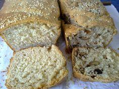 psomi kai psomi me elies Banana Bread, Vegan, Breads, Desserts, Food Ideas, Bread Rolls, Tailgate Desserts, Deserts, Bread