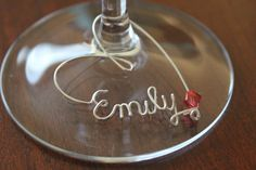 Personalized Wine Charm by CharmsByKarlie on Etsy, $3.49