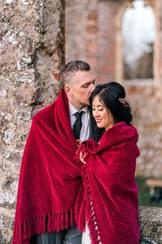 Ruby Red: Remote Intimate Winter Elopement in Ruined Church Winter Bride, Winter Weddings, Colored Engagement Rings, Picnic Style, Wedding Inspiration, Wedding Ideas, Bridal Shoot, Bride Look, Industrial Wedding