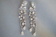 VIVIAN Bridal Jewelry Rhinestone Earrings --Bridesmaid Gift-- Rhinestone Vintage Bridal Earrings from Camilla Christine. $78.00, via Etsy.