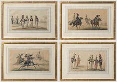 Vier Uniformdarstellungen, Polen, 19. Jhdt. - Lot detail | Hermann Historica