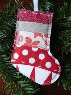 Jenny: Scrappy Stocking Christmas Ornament