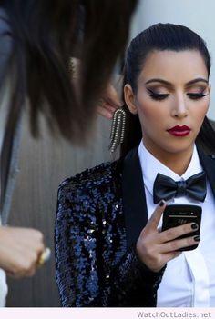 Beautiful Kim Kardashian look