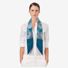 Jeu des Omnibus Remix scarf 90 - worn