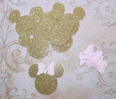 Bebé Minnie Gold Glitter ratón cabeza por sandylynnbscrapping